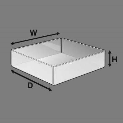 trays dimensions